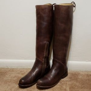 BED STU Brown Leather Manchester Riding Boots 8